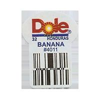 Dole 32 BANANA #4011  22,2 x 30,1 mm paper before 2012  Honduras unique