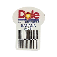 Dole 35 BANANA #4011  22,2 x 30,1 mm paper before 2012 Honduras unique