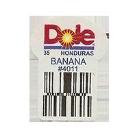 Dole 35 BANANA #4011  22,2 x 30,1 mm paper before 2012 Honduras unique