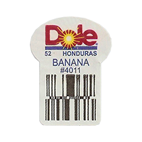 Dole 52 BANANA #4011  22,2 x 30,1 mm paper before 2012 Honduras unique
