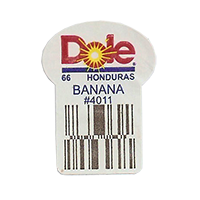 Dole 66 BANANA #4011  22,2 x 30,1 mm paper before 2012 Honduras unique