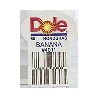 Dole 66 BANANA #4011  22,2 x 30,1 mm paper before 2012 Honduras unique