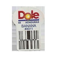 Dole 69 BANANA #4011  22,2 x 30,1 mm paper before 2012 TL Honduras unique