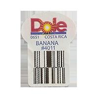 Dole 0651 BANANA #4011  22,2 x 30,1 mm paper before 2012 TL Costa Rica unique