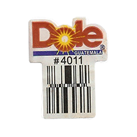 Dole #4011  22,1 x 28,4 mm paper before 2012 Guatemala unique