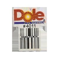 Dole #4011  22,1 x 28,4 mm paper before 2012 Guatemala unique