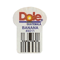 Dole BANANA #4011  22,2 x 30,1 mm paper before 2012 Guatemala unique