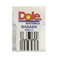 Dole BANANA #4011  22,2 x 30,1 mm paper before 2012 Guatemala unique