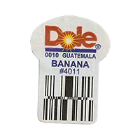 Dole 0010 BANANA #4011  22,2 x 30,1 mm paper before 2012 Guatemala unique