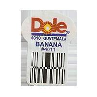 Dole 0010 BANANA #4011  22,2 x 30,1 mm paper before 2012 Guatemala unique