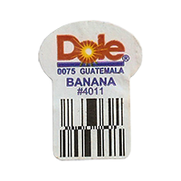 Dole 0075 BANANA #4011  22,2 x 30,1 mm paper before 2012 Guatemala unique