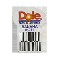 Dole 0075 BANANA #4011  22,2 x 30,1 mm paper before 2012 Guatemala unique