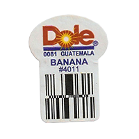 Dole 0081 BANANA #4011  22,2 x 30,1 mm paper before 2012 Guatemala unique