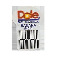 Dole 0081 BANANA #4011  22,2 x 30,1 mm paper before 2012 Guatemala unique