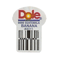 Dole 0098 BANANA #4011  22,2 x 30,1 mm paper before 2012 TL Guatemala unique