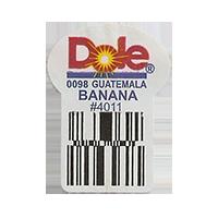Dole 0098 BANANA #4011  22,2 x 30,1 mm paper before 2012 TL Guatemala unique