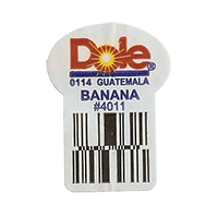 Dole 0114 BANANA #4011  22,2 x 30,1 mm paper before 2012 Guatemala unique