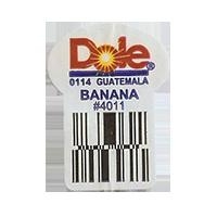 Dole 0114 BANANA #4011  22,2 x 30,1 mm paper before 2012 Guatemala unique