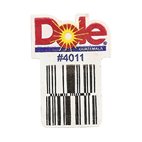 Dole  #4011  22,1 x 31,2 mm paper before 2012  Guatemala unique