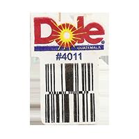 Dole  #4011  22,1 x 31,2 mm paper before 2012  Guatemala unique