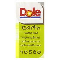 Dole Earth Visit my farm! enter the code at dole-earth.com 10580  22 x 43 mm paper 2012 NB Costa Rica unique