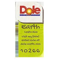 Dole Earth Visit my farm! enter the code at dole-earth.com 10266  22 x 43 mm paper 2012 M Costa Rica unique