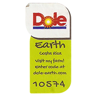 Dole Earth Visit my farm! enter the code at dole-earth.com 10574  22 x 43 mm paper 2012 M CoCosta Rica unique