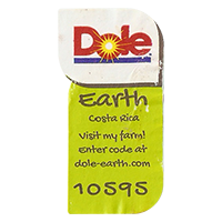 Dole Earth Visit my farm! enter the code at dole-earth.com 10595  22 x 42,9 mm paper 2012 M Costa Rica unique