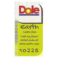 Dole Earth Visit my farm! enter the code at dole-earth.com 10225  22 x 43 mm paper 2012 M Costa Rica unique