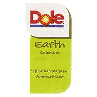 Dole Earth Visit a banana farm:  dole-earth.com  22 x 43 mm paper 2013  Colombia unique