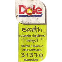 Dole Earth Guarda da dove vengo ! inserisci il codice in dole-earth.com 31370  21,8 x 43 mm paper 2015 J Ecuador unique