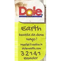 Dole Earth Guarda da dove vengo ! inserisci il codice in dole-earth.com 32141  21,8 x 43 mm paper 2015 J Ecuador unique