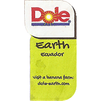 Dole Earth Visit a banana farm: dole-earth.com  22,1 x 43 mm paper 2015 J Ecuador unique