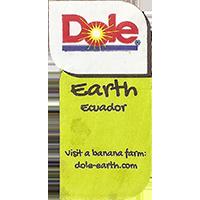 Dole Earth Visit a banana farm: dole-earth.com  22,1 x 43 mm paper 2015 J Ecuador unique