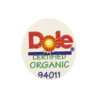 Dole YOURCHOICE CERTIFIED ORGANIC 94011  21,7 x 24,2 mm paper 2011 NB unique