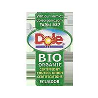 Dole BIO ORGANIC FARM 537 doleorganic.com  21,6 x 34,8 mm paper 2011 J Ecuador unique