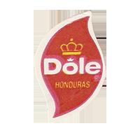 Dole  19,8 x 31,2 mm paper before 2013 Honduras unique