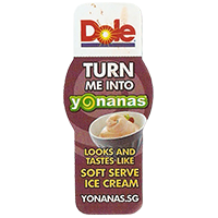 Dole TURN ME INTO Yonanas SOFT SERVE ICE CREAM  YONANAS.SG  21,1 x 49,4 mm plastic 2013 unique