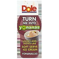 Dole TURN ME INTO Yonanas SOFT SERVE ICE CREAM  YONANAS.SG  21,1 x 49,4 mm plastic 2013 unique