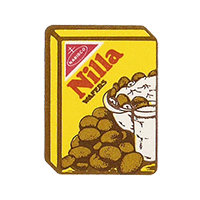 Dole Nilla WAFERS NABISCO  22,2 x 29,5 mm paper 2012 KČ unique