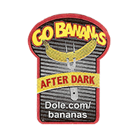 GO BANANAS AFTER DARK Dole.com/bananas  22,1 x 29,7 mm paper 2015 KT unique
