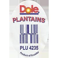 Dole PLANTAINS PLU 4235  29,3 x 42,8 mm paper 2016 PM Ecuador unique
