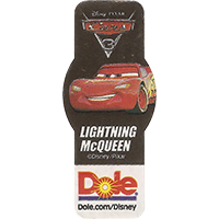 DOLE Cars Dole.com/Disney Disney/Pixar LIGHTNING McQUEEN  49,1 x 21,6 mm paper 2017 ML unique