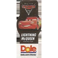 DOLE Cars Dole.com/Disney Disney/Pixar LIGHTNING McQUEEN  49,1 x 21,6 mm paper 2017 ML unique