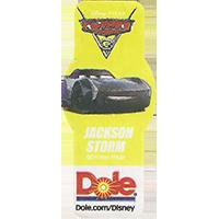 DOLE Cars Dole.com/Disney Disney/Pixar JACKSON STORM  49,1 x 21,6 mm paper 2017 ML unique
