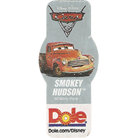 DOLE Cars Dole.com/Disney Disney/Pixar SMOKEY HUDSON  49,1 x 21,6 mm paper 2017 ML unique