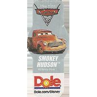 DOLE Cars Dole.com/Disney Disney/Pixar SMOKEY HUDSON  49,1 x 21,6 mm paper 2017 ML unique