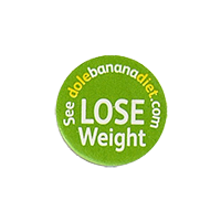 Dole LOSE Weight See dolebananadiet.com  19,5 x 19,5 mm paper before 2012 unique
