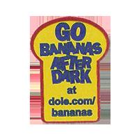 Dole GO BANANAS AFTER DARK at dole.com/bananas  22,2 x 30 mm paper before 2012 unique
