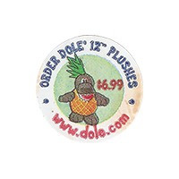 Dole ORDER DOLE 12 PLUSHES $6.99 ww.dole.com  0 x 0 mm paper 2017 KČ unique